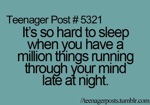 Every night!
