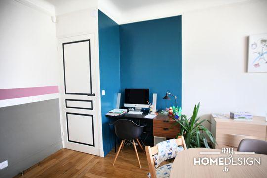 Un appartement familial plein de peps pi ces de monnaie blog et bureaux - Coin bureau dans salon ...