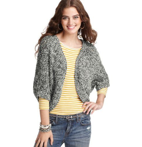 Open Short Sleeve Cocoon Cardigan