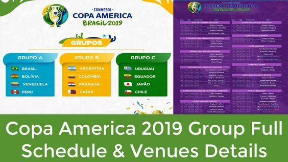 All The Football Fans Want To See The Upcoming Copa America 2019 Schedule As Per Fixtures First Match O 2022 Fifa World Cup America Uefa European Championship