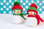 Amigurumi – kleinen Schneemann häkeln