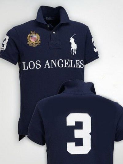 ralph lauren los angeles no 3 polo shirt navy. Black Bedroom Furniture Sets. Home Design Ideas
