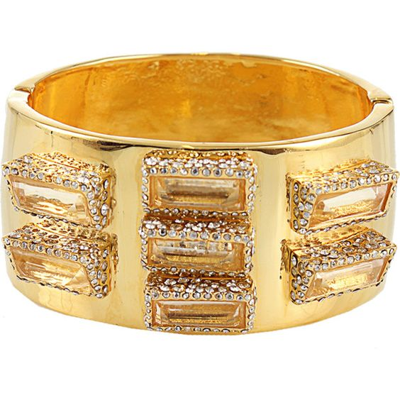 ALEXIS BITTAR New Wave Hydroquartz Bracelet ($375) ❤ liked on Polyvore