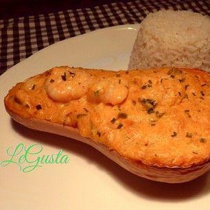 camarão na cestinha de abóbora ((4 the recipe go to www.legusta.co.uk))