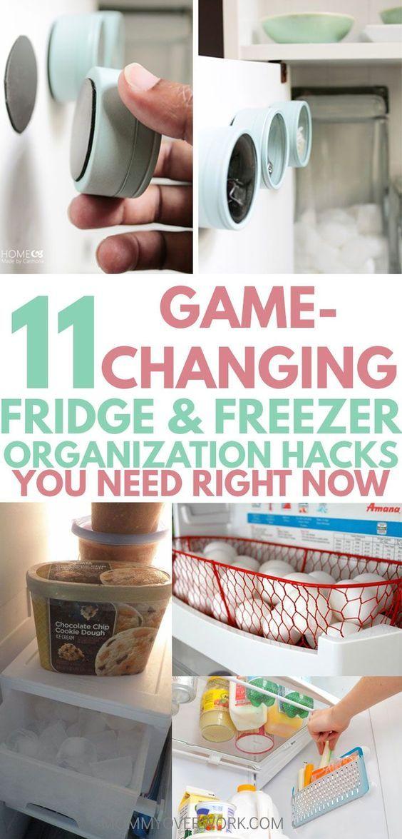11 Genius Freezer Refrigerator Organization Tips Hacks