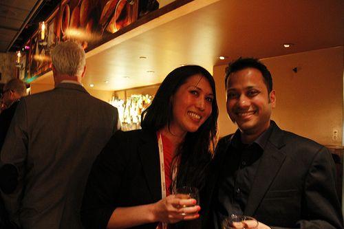 InsideView's very own Rahul Maheshka and Caroline Lee.