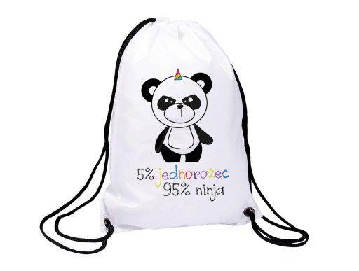 Worek Plecak Szkolny Sport Torba Smieszny Nadruk Bags Backpacks Drawstring Backpack