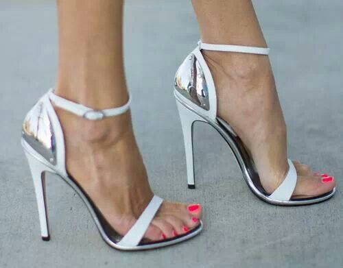 Sexy White & Silver Heels | Shoe & Tell | Pinterest | Sexy, Metals ...