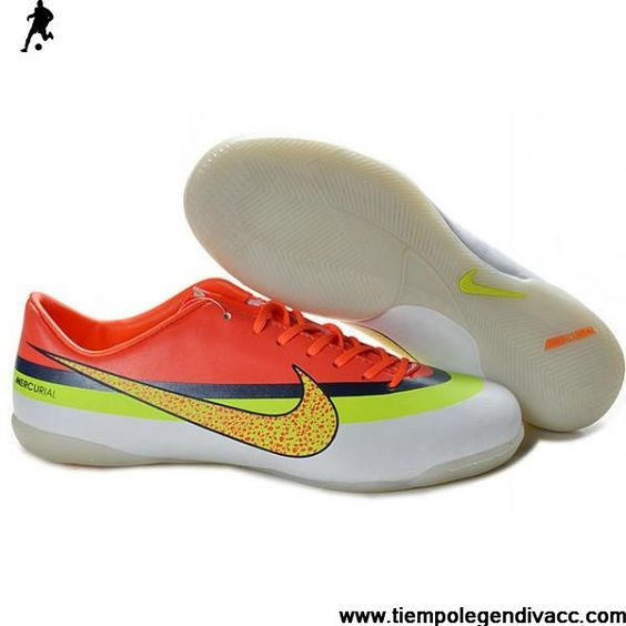 ... Sale Limited Edition cristiano ronaldo Nike Mercurial Victory IV CR IC  Indoor Boots white yellow red ...