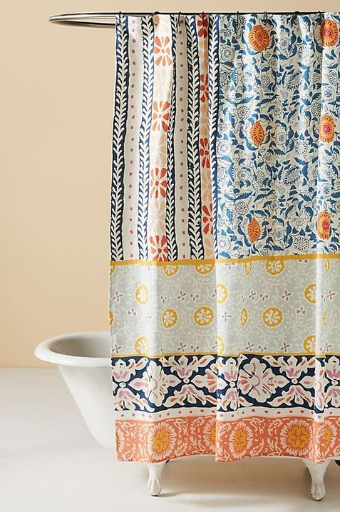 Anthropologie Vivi Shower Curtain In 2020 Cute Shower Curtains
