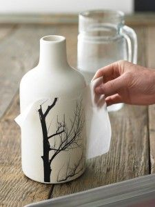 how to use wax paper to transfer design on objects