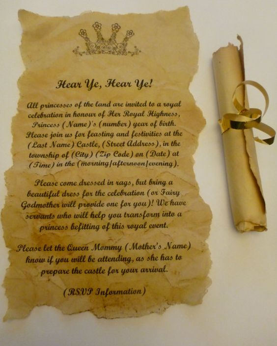28 Best Medieval Wedding Invitations Images On Pinterest: Scroll Invitations For Birthday Party, Baby Or Wedding