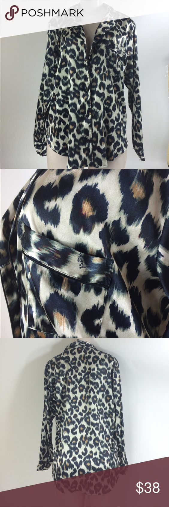 Victoria secret silk cheetah pajama 💛 NWT