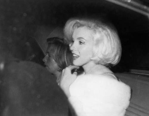 Marilyn leaving JFK birthday party at Madison Square Garden - May 19, 1962