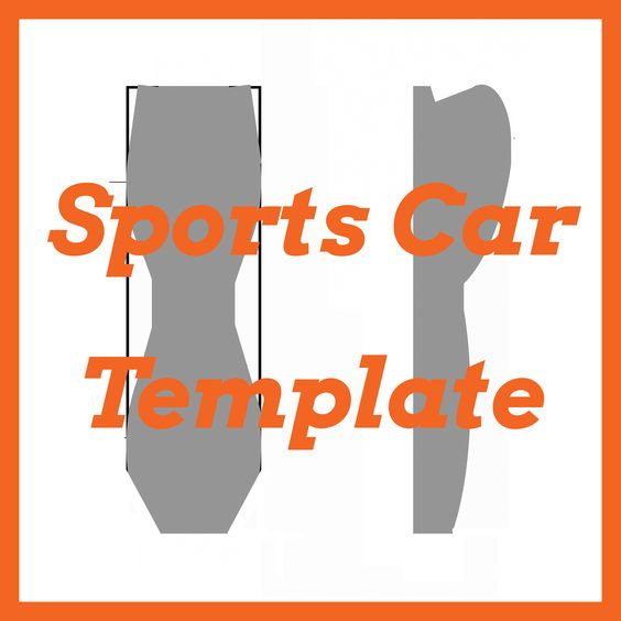 Awana Grand Prix \/ Pinewood Derby Sports Car Template DIY - pinewood derby template