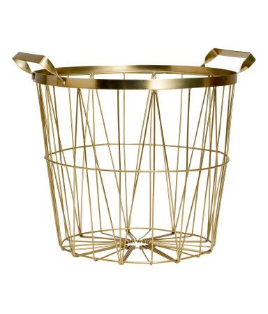 Basket for throw blankets, magazines, etc. @ H&M -- $19.95