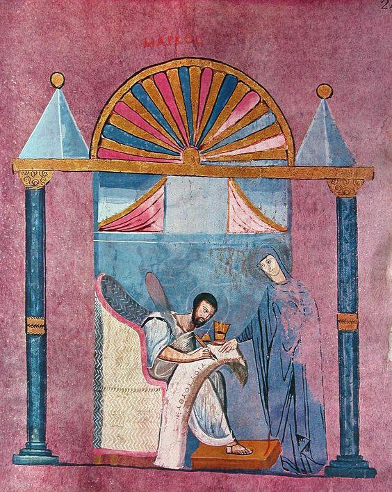 Evanjelist Markos. Calabria-Arte e Cultura-Codex Purpureus Rossanensis-Tav.15
