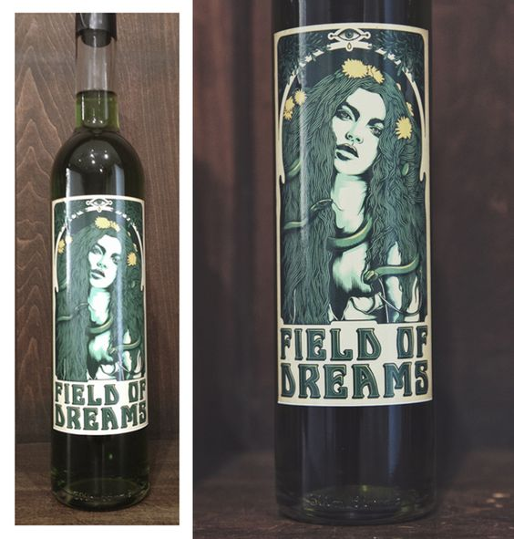 a custom label for South African locally-brewed Absinthe - Field of Dreams.