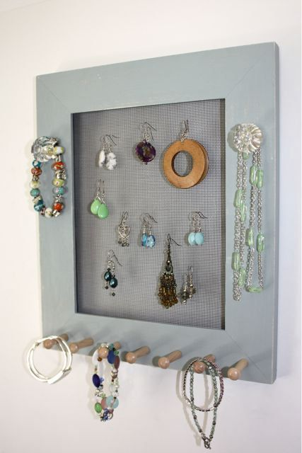 Jewelry Screen Holder  Earring Organizer by onthewallusa on Etsy, $28.00