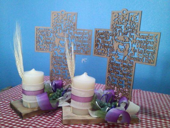 Mesas on pinterest - Centros d mesa primera comunion ...