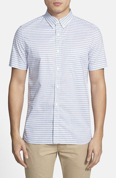 Men's French Connection 'Boilly' Slim Fit Stripe Sport Shirt