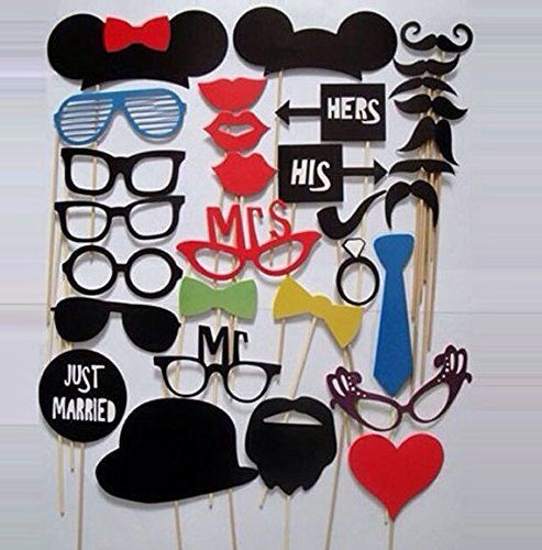 EQLEF® 31-in-1 DIY lustige Glas-Schnurrbart Red Lips Hats Ring On Sticks Hochzeits-Geburtstagsfeier-Foto Props, http://www.amazon.de/dp/B012CFM7OW/ref=cm_sw_r_pi_awdl_DM59wb1VKSP6P