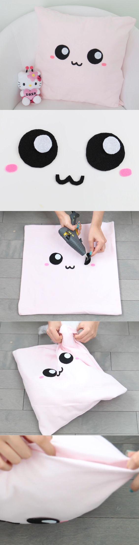 Nim C's cute face pillowcase DIY tutorial part 2. So cute!!!!: