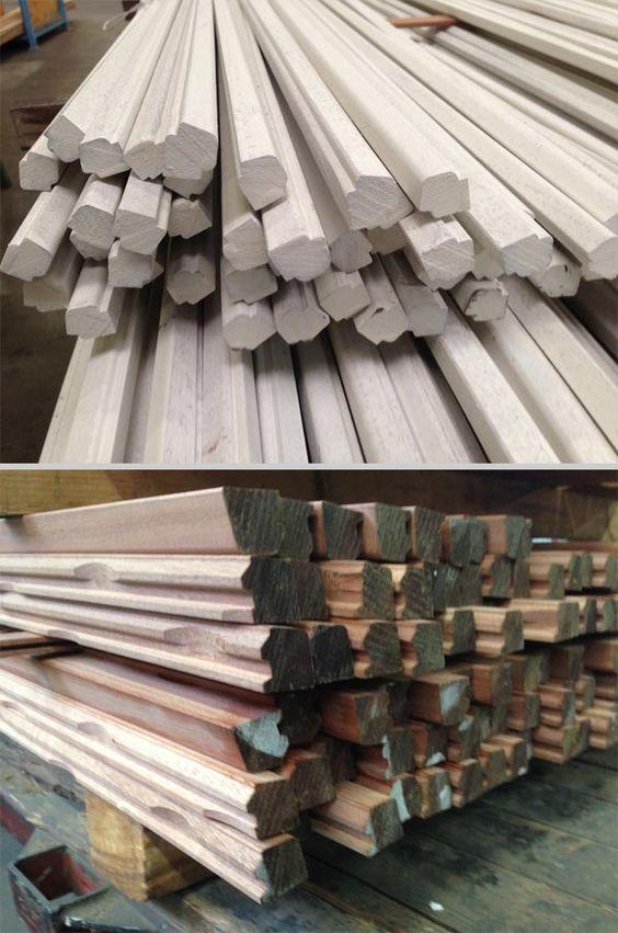 Houten glaslatten | in alle mogelijke kopmaten en #houtsoorten | Houtindustrie Veteka