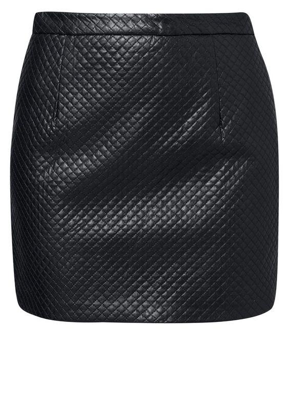 #skirt #leather #black #fashion #topshop