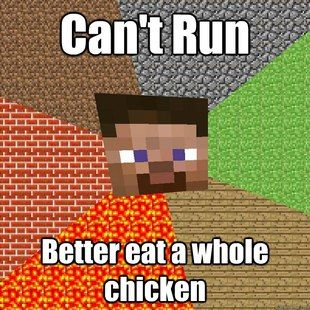 Lol why doesn't minecraft have chicken nuggets or something?
