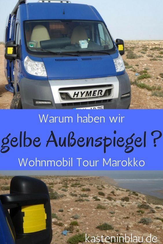 Marokko Wohnmobil Aussenspiegel Strassenverkehr Unfallgefahr Wohnmobiltour Reise Wohnmobil Touren Wohnmobil Portugal Reisen