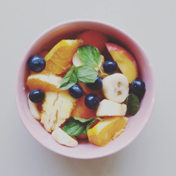 Durazno banana naranja arandanos & menta