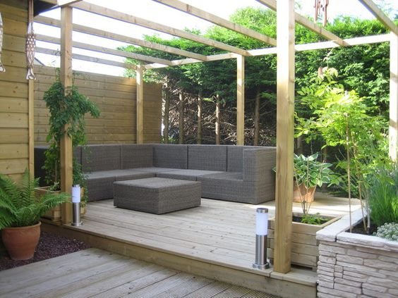 speels vlonder terras. lounge hoek