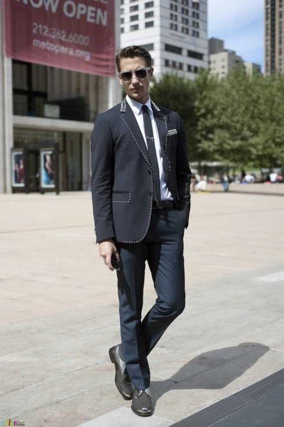 平服の海外メンズスタイル