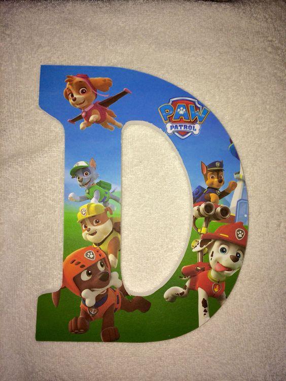 Custom Wooden Letters Or Numbers Hanging Paw Patrol Wood