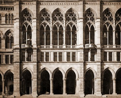 The facade of the City Hall, Vienna.