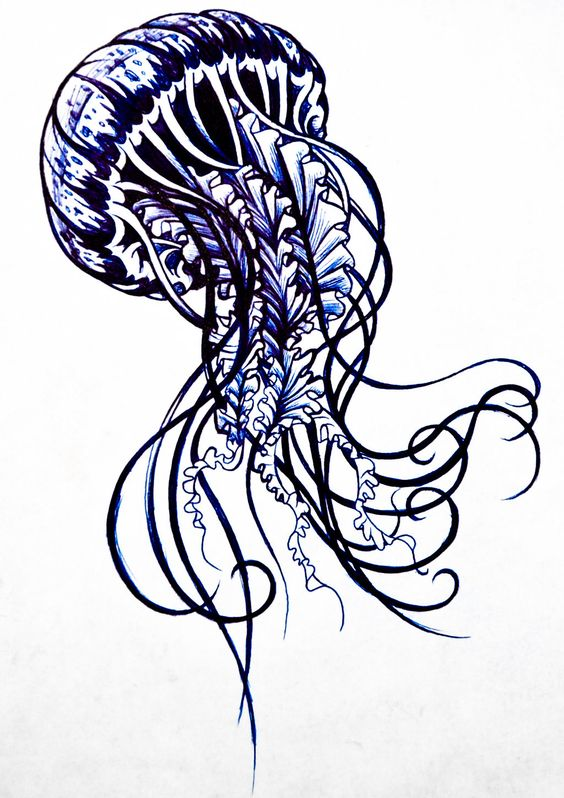 immortal jellyfish tattoo | Jellyfish Tattoo Design ...