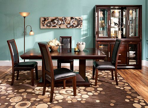 Some Collections Just Draw You In With Their Fine Craftsmanship And The Batavia 5 Piece Dining Set Is One Of Them It Features A Double Pedestal T