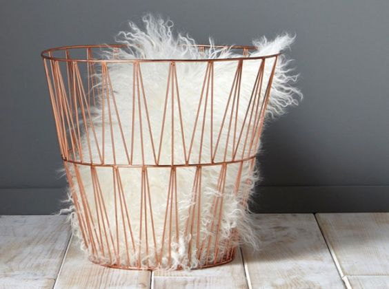 Corbeille papier or rose gold gold gold pinterest for Deco maison rose gold