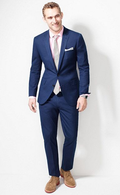 J.Crew Ludlow suit in dotted indigo Italian cotton $550 | Suit