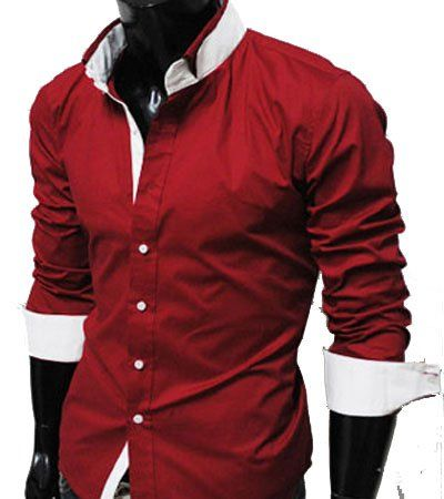 GL Fashions Men's Casual Long Sleeve Double Collar Dress Shirt ...