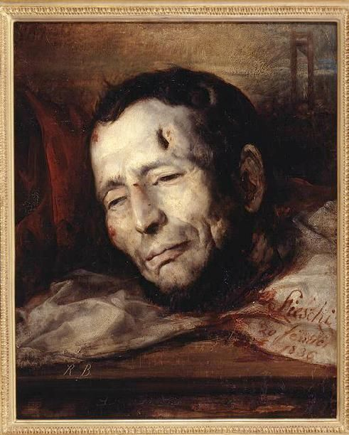 Portrait of Giuseppe Fieschi after his execution by guillotine