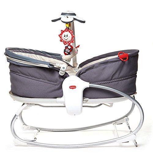 Baby-Schaukel Schaukelwippe mit Mobile Fernbedienung all kids United Elektrische Babywippe Deluxe extra Schaukelstuhl