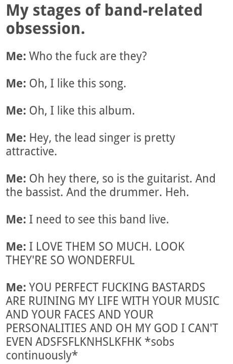 It's scary how accurate this is..     Black veil brides; pierce the veil; sleeping with sirens; panic at the disco; fall out boy; and many more...