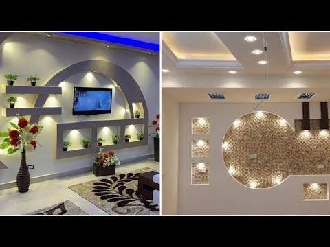 احسن واجمل واحدث ديكورات شاشة تلفاز باجبس The Most Beautiful And Latest Decorations For The Tv Scr Youtub Dream House Decor Home Room Design Tv Wall Design