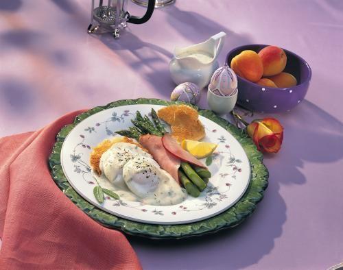 Poached Eggs Primavera