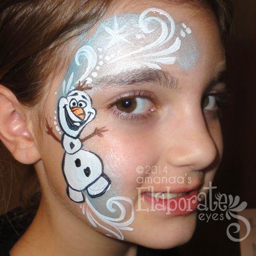 Winter Face Painting Amandas Elaborate Eyes amp Body