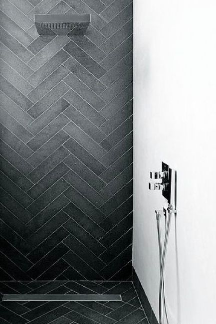 Chevron minimal and decoration on pinterest - Deco hangend toilet idee ...