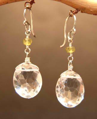 Handmade Crystal Quartz Earrings $34.00 http://www.wholesouljewelry.com/item_1836/Crystal-Quartz-Earrings.htm