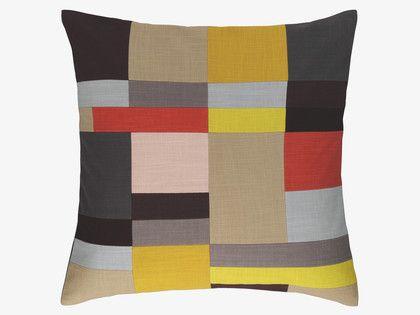 CROFTON Cotton Multi-coloured patchwork cushion 60 x 60cm - HabitatUK